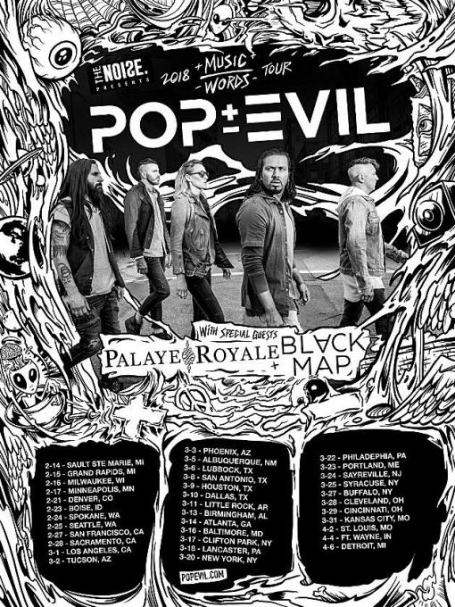 Pop Evil at The Orange Peel